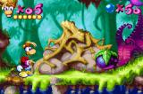 Rayman Game Boy Advance Punch these balls to a good place to reach higher areas.