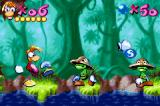 Rayman Game Boy Advance Fighting some enemies.