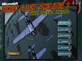 Microsoft Combat Flight Simulator 2: WW II Pacific Theater Windows Main menu