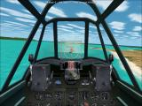 Microsoft Combat Flight Simulator 2: WW II Pacific Theater Windows A merchant ship is exploding after some cannon hits.