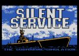 Silent Service Atari 8-bit Title screen