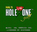 Hole in One SNES Here's the title screen.