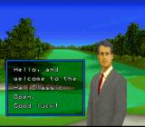 Hole in One SNES This sharp dress man welcomes you to the HAL Classic Open.