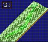 Hole in One SNES You can also check terrain elevations on the handy topographical grid map.