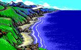 California Games II Amiga Hang Gliding to sea