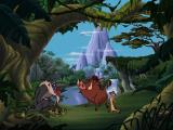 Disney's Adventures in Typing with Timon and Pumbaa Windows Timon and Pumbaa announce they're off on an adventure.