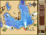 Laura Jones and the Gates of Good and Evil Windows Mini-game: point the winds so that they blow the boat to the goal.