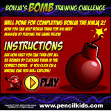Bowja the Ninja 2: In Bigman's Compound Browser Bonus game instructions