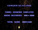 Super Stardust Amiga Congratulations! Tunnel sequence completed!