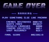 Super Stardust Amiga At the game over screen, the game rates your effort...