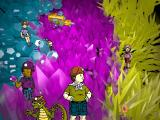 Scholastic's The Magic School Bus Explores Inside the Earth Windows The crew inside a geode