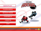 Hard Hittin' Hockey Windows Main Menu