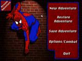 Marvel Comics Spider-Man: The Sinister Six DOS Main menu