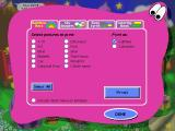 Reader Rabbit's Toddler Windows Printing options - if the player has been signed in his name can be included on the printouts