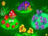 Reader Rabbit's Toddler Windows In Musical Meadow, The player moves a bee-shaped cursor among the flowers to turn the music on and off