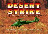 Desert Strike: Return to the Gulf Genesis Title Screen