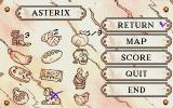 Asterix: Caesar's Challenge DOS In this screen you can see the items you have