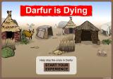 Darfur is Dying Browser Start screen
