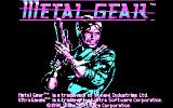 Metal Gear DOS Title screen (CGA)