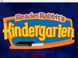 Reader Rabbit's Kindergarten Windows Title screen