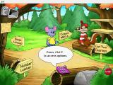 Reader Rabbit's Kindergarten Windows The main page, where the player can choose his destination or access Parent pages