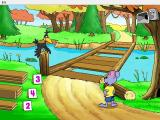 Reader Rabbit's Kindergarten Windows The player must find the correct number of boards to repair the bridge and proceed