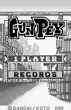 Gunpey WonderSwan Title screen.