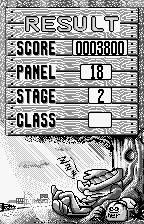 Gunpey WonderSwan Results of puzzle mode.