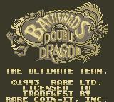Battletoads & Double Dragon: The Ultimate Team Game Boy Title Screen