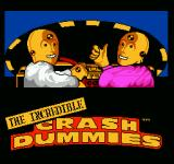 The Incredible Crash Dummies NES Title screen