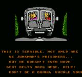 The Incredible Crash Dummies NES Story cutscene