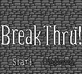 BreakThru! Game Boy Title screen