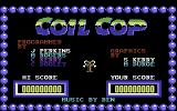 Coil Cop Commodore 64 Title screen (US release)