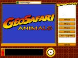 GeoSafari: Animals Windows Main page/options screen