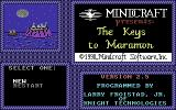 The Keys to Maramon Commodore 64 Title screen