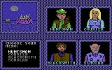 The Keys to Maramon Commodore 64 Select your character.