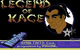 The Legend of Kage Commodore 64 Loading screen