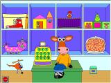 Millie's Math House Windows The main page, with seven activities to select from