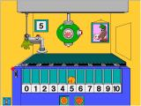 Millie's Math House Windows In <i>Explore and Discover</i> mode, the player can add as many jellybeans as he likes and the mechanical glove will deliver the cookie to the proper space