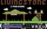 Livingstone, I Presume? Commodore 64 Title screen