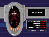 Saban's Power Rangers: Time Force PlayStation Picking which Power Ranger to play as.