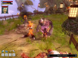 Jade Empire (Special Edition) Windows Fighting with a rhino demon, and a horse demon. A fox spirit is helping me.
