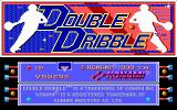 Double Dribble DOS Title screen (EGA/Tandy)
