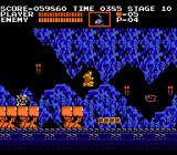 Castlevania NES Trying to jump to a moving platform.