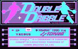 Double Dribble DOS Title screen (CGA)