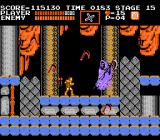 Castlevania NES Oh no, it's the Grim Reaper, the most difficult boss in the game!