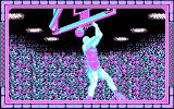 Double Dribble DOS A slam dunk closeup (CGA)