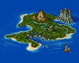 Traps 'n' Treasures Amiga The overview map. The volcano level never made it into the game.