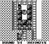 Catrap Game Boy Round 54, with floating badguys