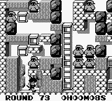 Catrap Game Boy Round 73, digging through some dirt.